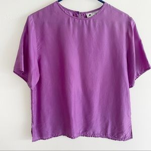 Vintage silk short sleeve top